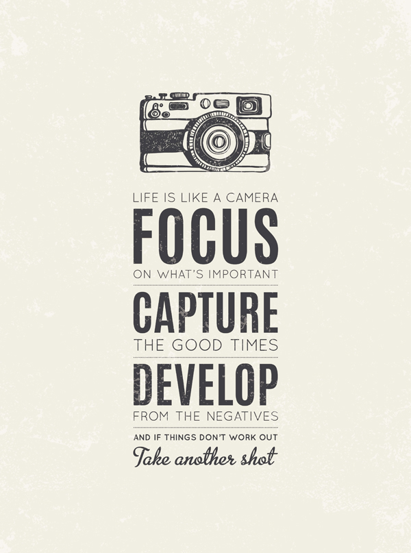 Image result for Life is like a camera focus-capture-develop